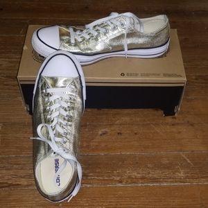 Glitter Sparkle Gold Converse